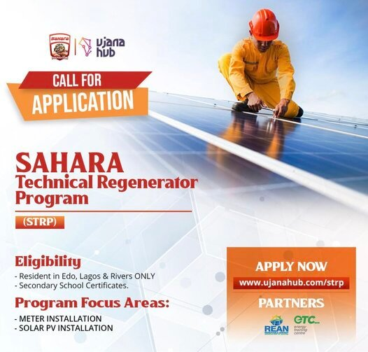 Sahara Technical Regenerator Program (STRP) 2021 for young Nigerians.