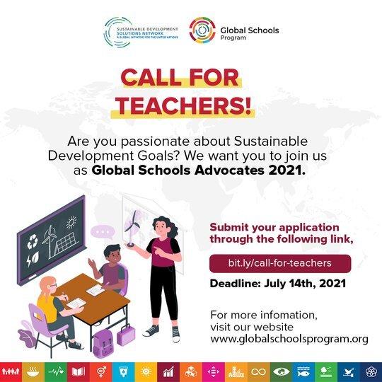 Global Schools Advocates Program 2021/2022 for teachers worldwide.