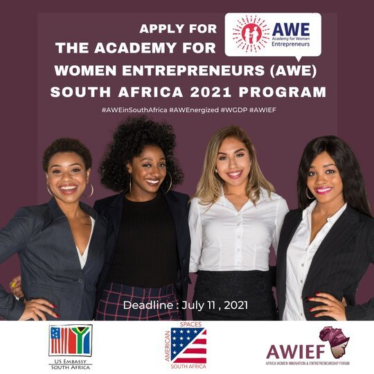 The Academy for Women Entrepreneurs (AWE) South Africa Program 2021 for Women Entrepreneurs.
