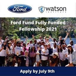 The Ford Fund Fellowship 2021 for social Entrepreneurs and community leaders ( $USD 1,000 in Seed Funding)