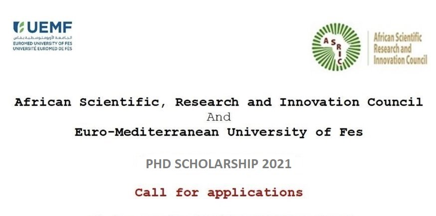 ASRIC-UEMF PhD Scholarship Scheme 2021 for African Students