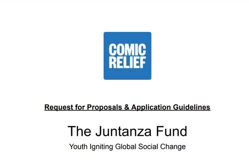 Juntanza Fund Youth Advisory Council Grant for youth-led organizations.