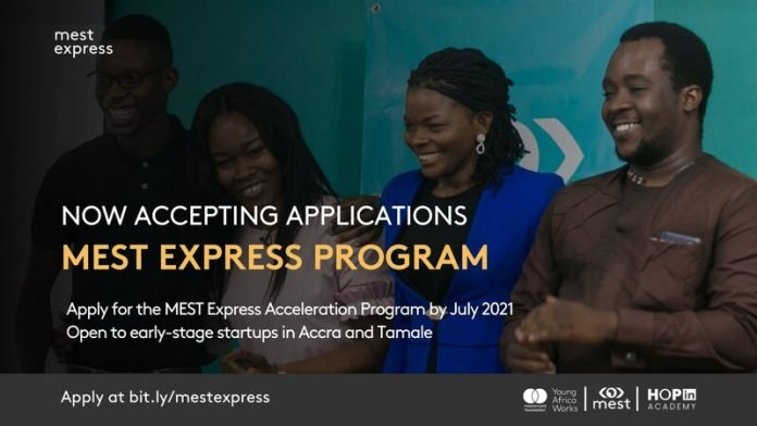 MEST Express Acceleration Program for early & growth stage Ghanaian tech startups ( $20,000 in equity-free grant funding)