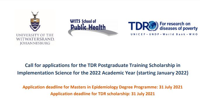 TDR Postgraduate Training Scholarship in Implementation Science 2022 (Fully-funded)