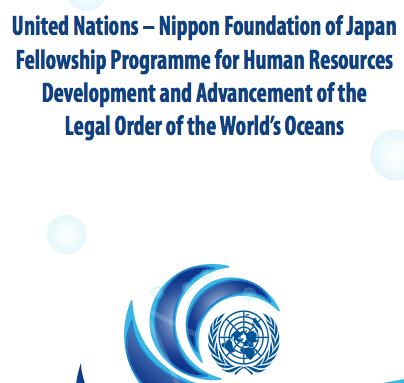 The United Nations – Nippon Foundation Fellowship 2021 for Government officials and other mid-level professionals.