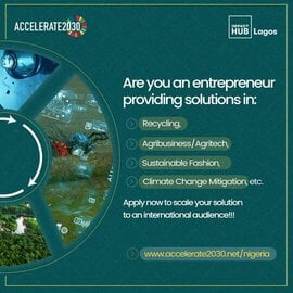 Impact Hub Accelerate2030 Acceleration Programme 2021 for innovative Nigerian startups.