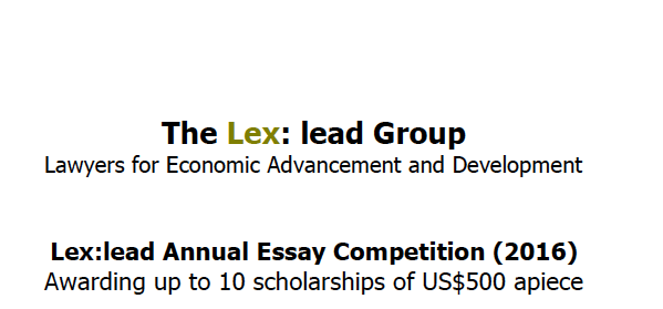 Lex:lead Essay Competition 2021 for Students in Developing Countries