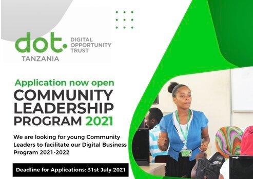 DOT Tanzania Community Leadership Program 2021/2022 for young Tanzanians.
