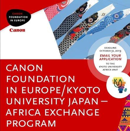 Canon Foundation-Kyoto University Japan-Africa Exchange Program 2022 (27,500 Euro per year in Funding)