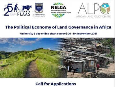 Institute for Poverty, Land & Agrarian Studies (PLAAS) Short Course 2021 for African Academics.