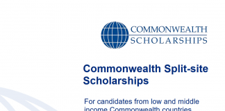 Commonwealth Split-site Scholarships 2021/2022 for Low and Middle-income Countries