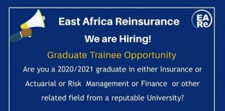 East Africa Reinsurance Graduate Trainee Program 2021
