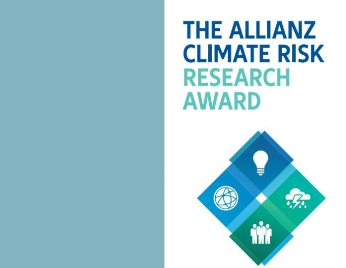 Allianz Climate Risk Research Award 2021 for young Scientists (monetary award & funded trip to Munich, Germany)