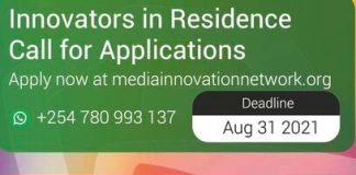 AKU GSMC Media Innovation Centre Innovators-in-Residence Program 2021/2022 for media innovators in East Africa. ($20,000 in grant funding)
