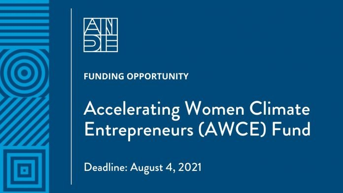 ANDE Accelerating Women Climate Entrepreneurs fund 2021