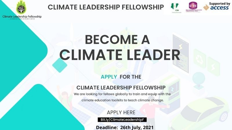 Climate Leadership Fellowship 2021 for Young Nigerians
