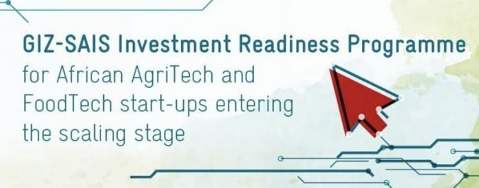 The GIZ-SAIS Investment Readiness Programme 2022 for Agtech Start-ups in Africa.