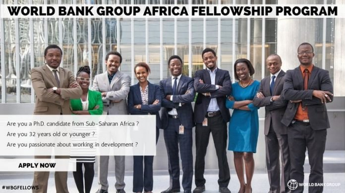 World Bank Group Africa Fellowship Program 2022 for Ph.D. students & recent graduates (Fully Funded to Washington, D.C. or a WBG country office)