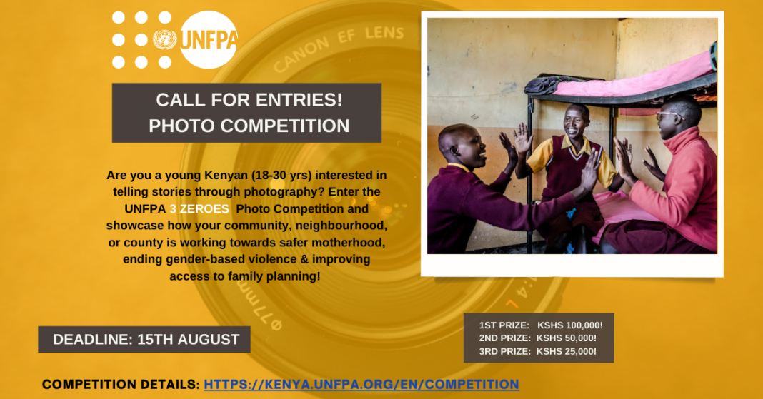 UNFPA Kenya 3 Zeroes Photo Competition 2021 (Win Kshs 100,000)