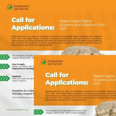 Paradigm Initiative Nigeria Digital Rights Academy and Litigation Clinic 2021