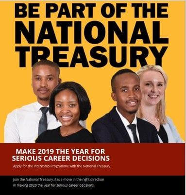 National Treasury Internship Programme 2022 for Young South African graduates.