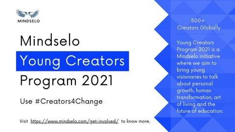 Mindselo Young Creators Program 2021 for young creators.