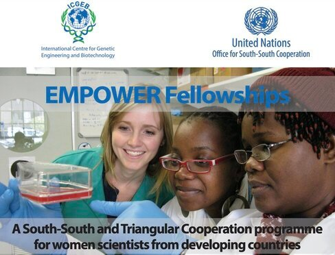 UNOSSC Youth4South & ICGEB Empower Fellowship 2021 for early-career female scientists from the Global South.