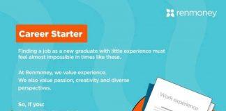 Renmoney Career Starter Graduate Trainee Program 2021 for young Nigerians.