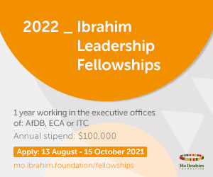 Mo Ibrahim Foundation Leadership Fellowship Programme 2022 for emerging African Leaders(Fully Funded to work at UNECA, AfDB & ITC with Annual Stipend of $100,000)