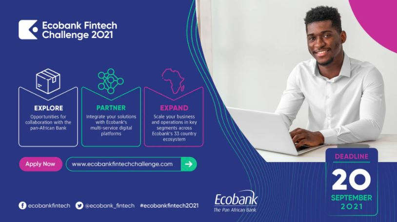 Ecobank Fintech Challenge 2021 for African Startups (Win $15,000)