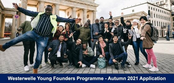 Westerwelle Young Founders Programme – Autumn 2021 for young Entrepreneurs from emerging and developing countries (Fully Funded to Berlin, Germany)