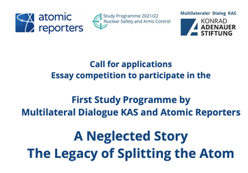 KAS/Atomic Reporters Essay Contest 2021 (Fully Funded to Vienna,Austria)