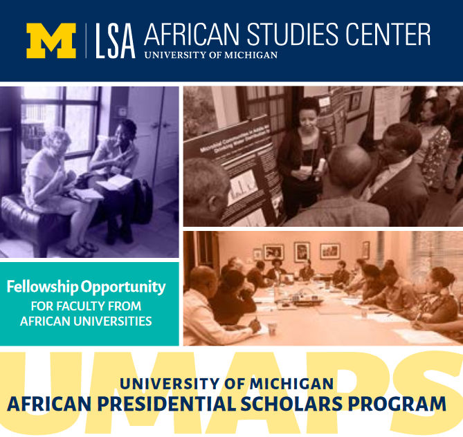 University of Michigan African Presidential Scholars Program 2021/2022 for Study in USA (Fully Funded)