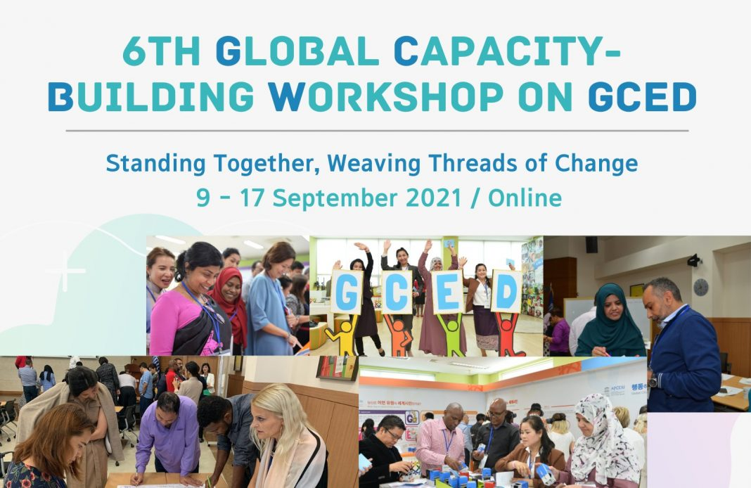 Apply to attend the APCEIU 6th Global Capacity-Building Workshop on GCED 2021 – Standing Together, Weaving Threads of Change