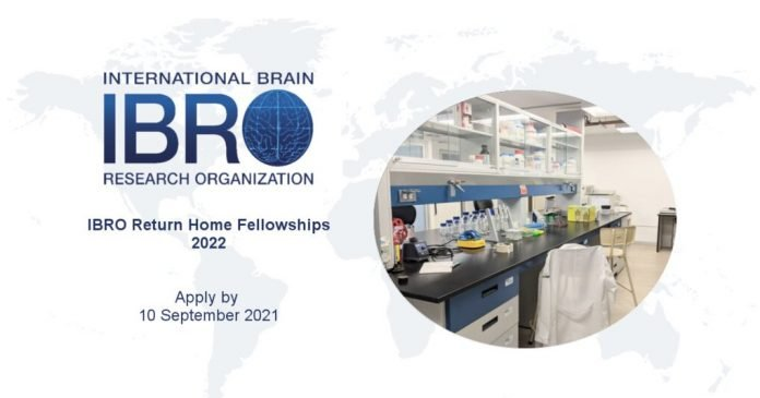 IBRO Return Home Fellowships 2022 for young Researchers from less developed Countries (20,000 euros grant)