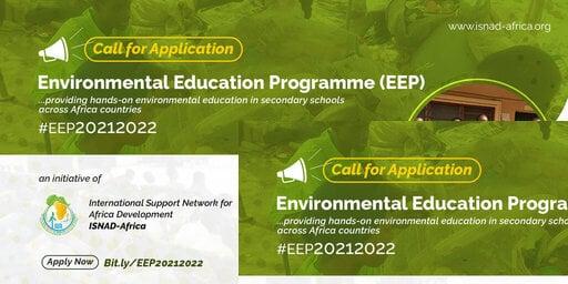 International Support Network for African Development (ISNAD) Environmental Education Programme (EEP) 2021