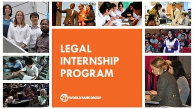 The World Bank Legal Vice Presidency's (LEG VPU) Internship Program Spring 2022 for highly-motivated law students