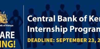 Central Bank of Kenya (CBK) Internship Programme 2021 for young Kenyan graduates.