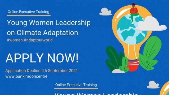 Ban Ki-Moon Center for Global Citizens (BKMC) Young Women Leadership on Climate Adaptation Program (Fully Funded)