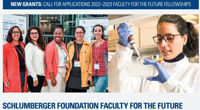 Schlumberger Foundation Faculty for the Future Fellowships 2022/2023 for Women in STEM. (USD 50,000 per year grant)