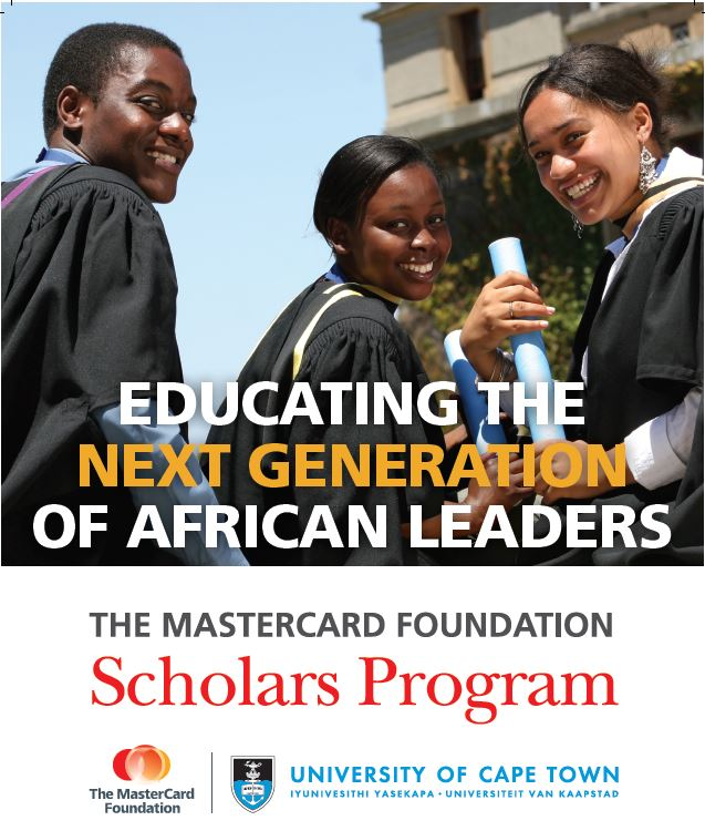 University of Cape Town MasterCard Foundation Scholars Program 2021/2022 for study in South Africa (Fully Funded)