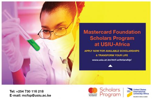 Mastercard Foundation Scholars Program at USIU-Africa 2022 for Young Africans (Fully-funded)
