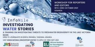 InfoNile Investigating Water Stories Workshop Training 2021 for Reporters and Editors (Fully Funded to Uganda)