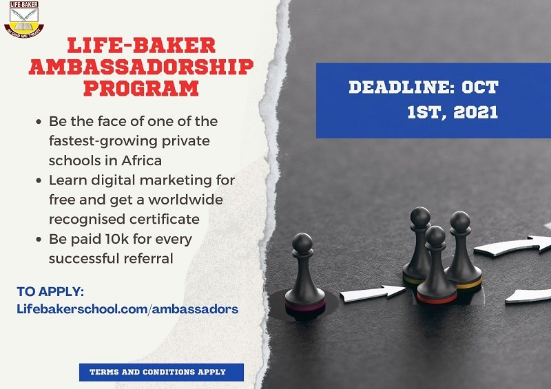 Life Baker Ambassadorship Program 2021 for Nigerians