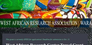 West African Research Center Travel Grant 2021 (Up to $3,000)