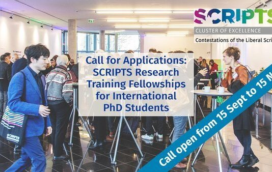SCRIPTS Research Training Fellowships for international PhD students ( €1500 Monthly Stipend)
