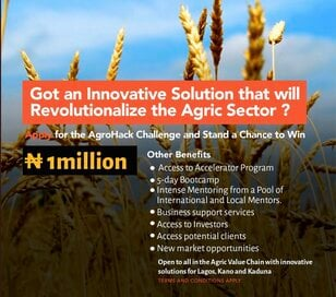 AgroHack Challenge 2021 for young Nigerian Agriculture Entrepreneurs.