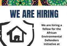 Natural Justice African Environmental Defenders Fellowship