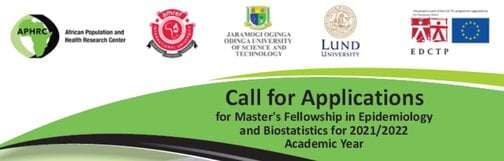 APHRC Master's Fellowship in Epidemiology and Biostatistics 2021/2022