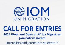 IOM West and Central Africa Migration Journalism Award 2021 (Up to $10,000)
